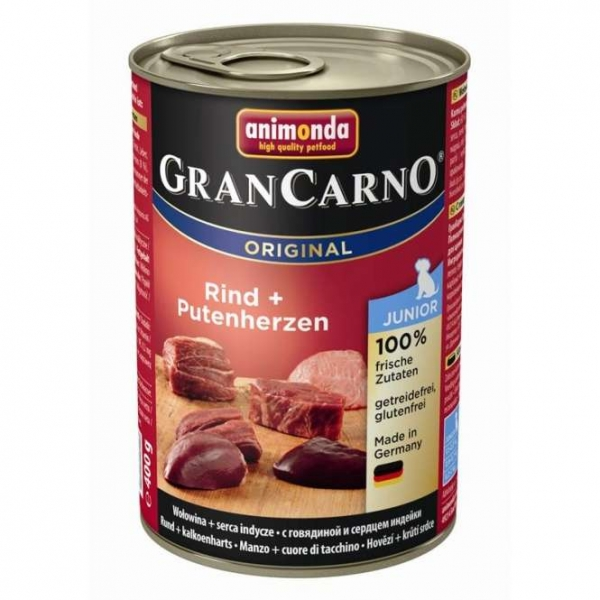 Animonda Dog Dose GranCarno Junior Rind & Putenherzen 400g