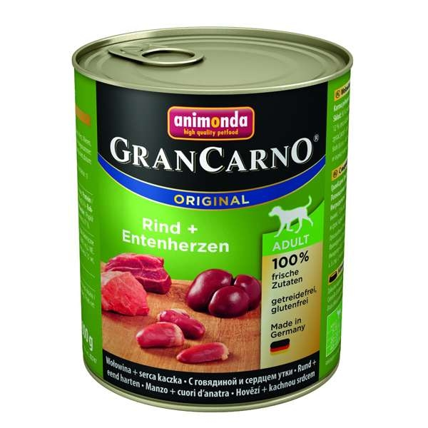 Animonda GranCarno Adult Rind & Entenherzen 800g